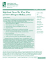 High food prices: The what, who, and how of proposed policy actions