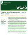 Foreign direct investment in land in West Africa