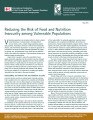 Reducing the risk of food and nutrition insecurity among vulnerable populations