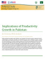 Implications of productivity growth in Pakistan