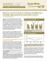Options and Priorities for Raising and Maintaining High Agricultural Productivity in Africa