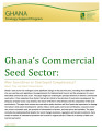 Ghanas commercial seed sector: New incentives or continued complacency?
