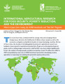 International agricultural research for food security, poverty reduction, and the environment